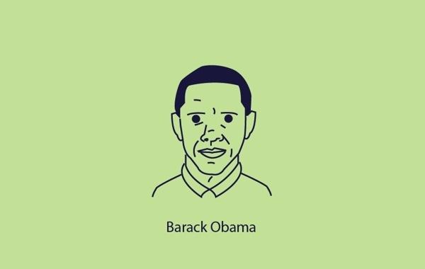 Vector Portraits Series #vector #obama #darrenhealeycom