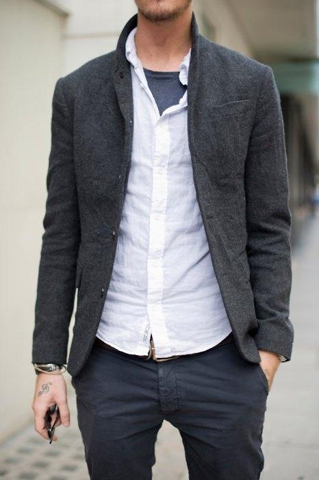 Andy Tomlinson — Senior Designer at Bite #jacket #tattoo #fashion #man #tweed #style