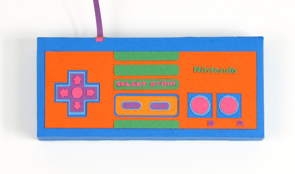 Back to Basics #controller #retro #snes #papercraft #paper #neon