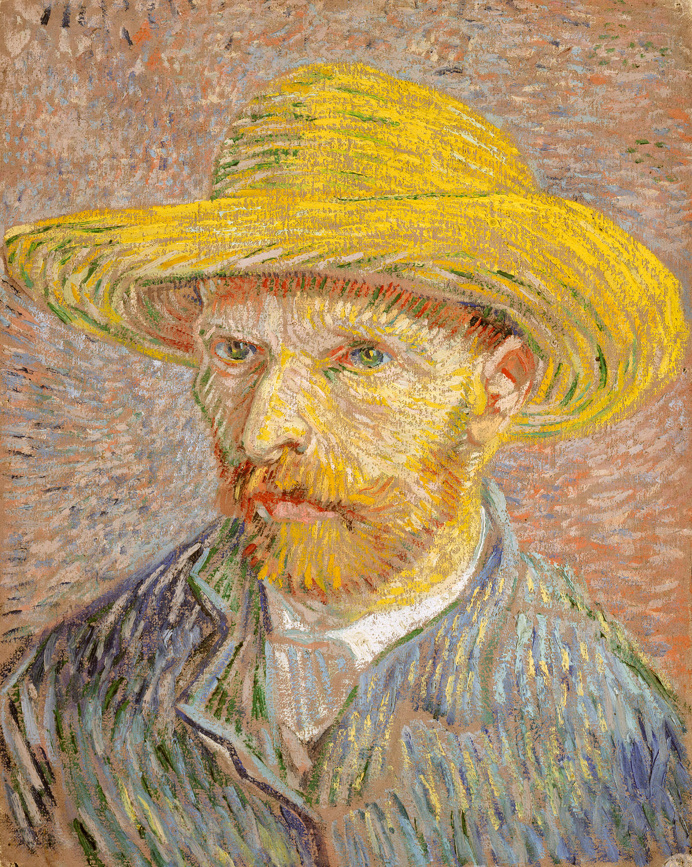 Self-Portrait with a Straw Hat (obverse: The Potato Peeler) by Vincent van Gogh