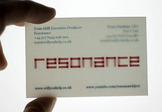 Looks like good Graphic Design by We Made This #transparency #business #card #design #graphic
