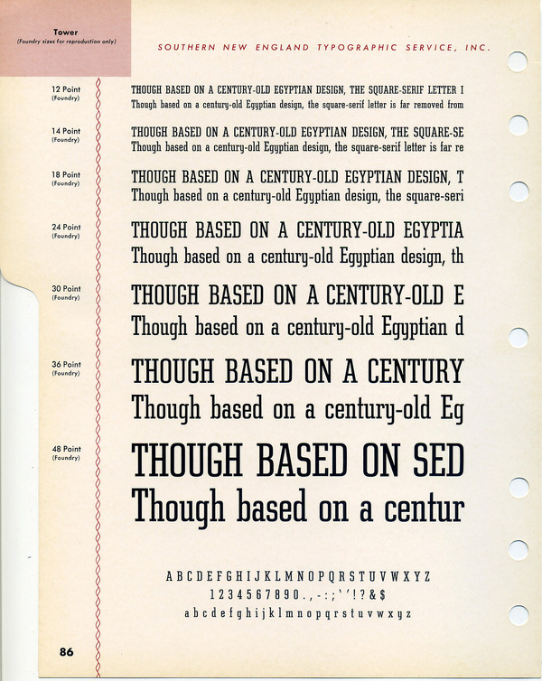 Tower type specimen #type #specimen