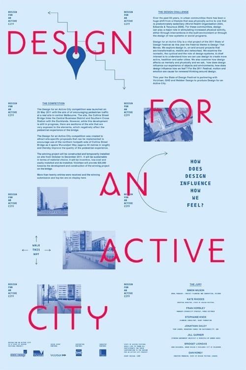 Design for an Active City | COÖP #poster