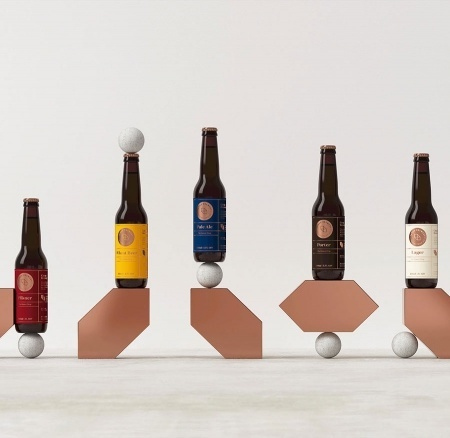 modern. beer, bottle, shape, circle, simple, modern