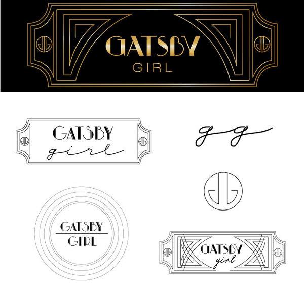 West end girl #gatsby #design #1920s #vintage #art #deco #logo