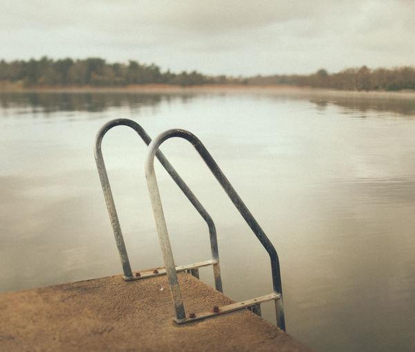 Ladder #ocean #photo #retro #calm #sea #ladder