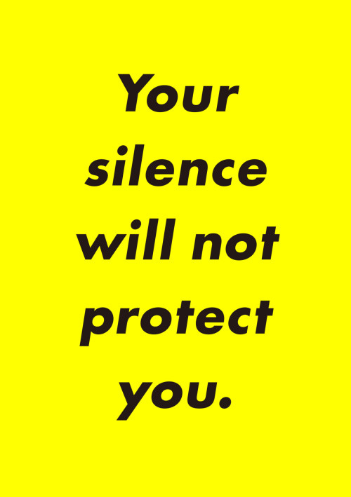 Japanese Exhibition Poster: Your Silence Will Not Protect You