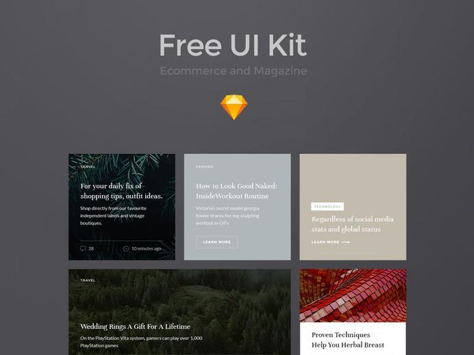 Free UI Kit for Sketch