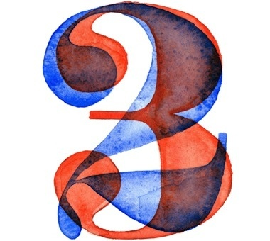 Watercolor Numbers on Typography Served #numbers #watercolor #overlay