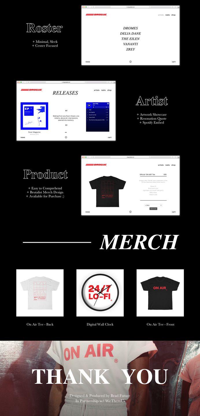 The Drogue Label - Web on Behance #roscoflevo #jensanchez #bradfuture #wethemus #art #design #agency #webdesign #branding