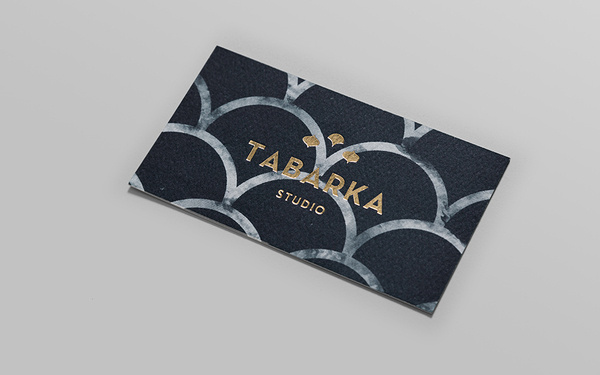 Tabarka Studio Business Card #gold #card #business