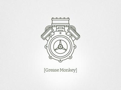 Grease Monkey Branding #branding #motor #mechanic #mechanical #engine #identity #logo #light