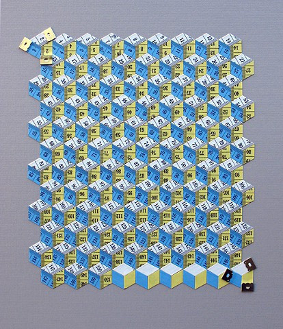 Metric System (blue, yellow and white) #patterns