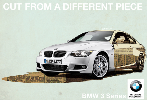 Cut from a different piece #bmw #design #advertising #illustration #art