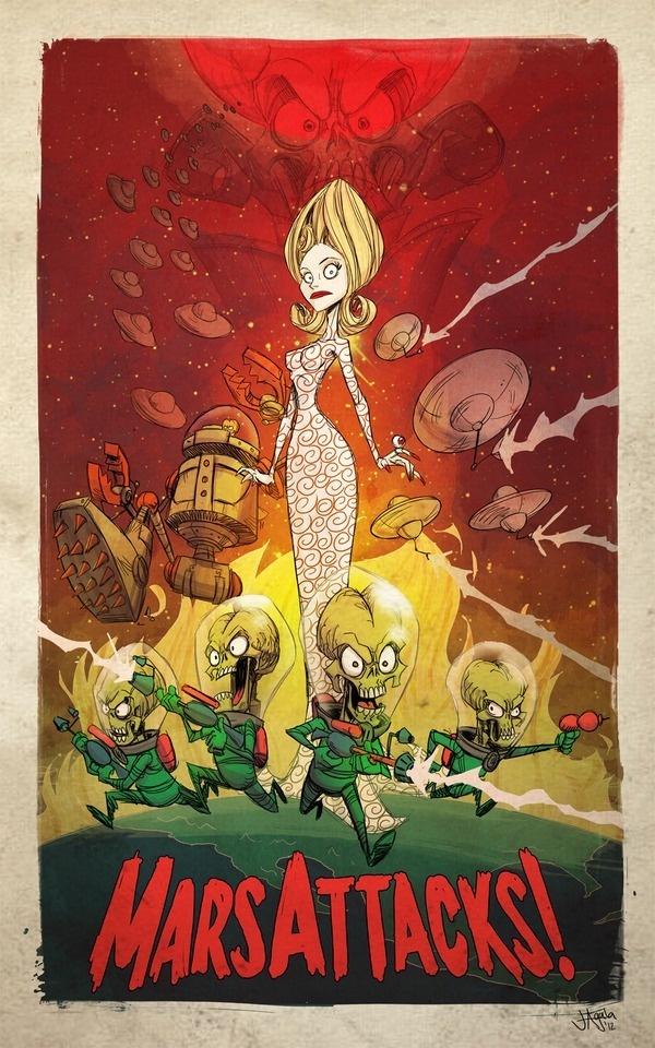 Mars Attacks! by ~jeffagala on deviantART #alien #tim #fi #space #sci #mars #poster #film #burton #attacks