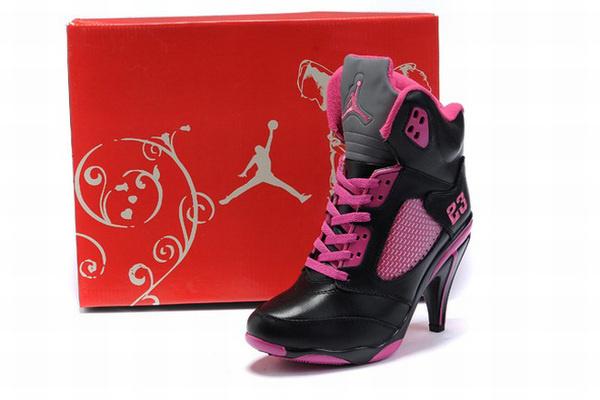 Nike Air Jordan V 5 Heels Black/Pink #fashion