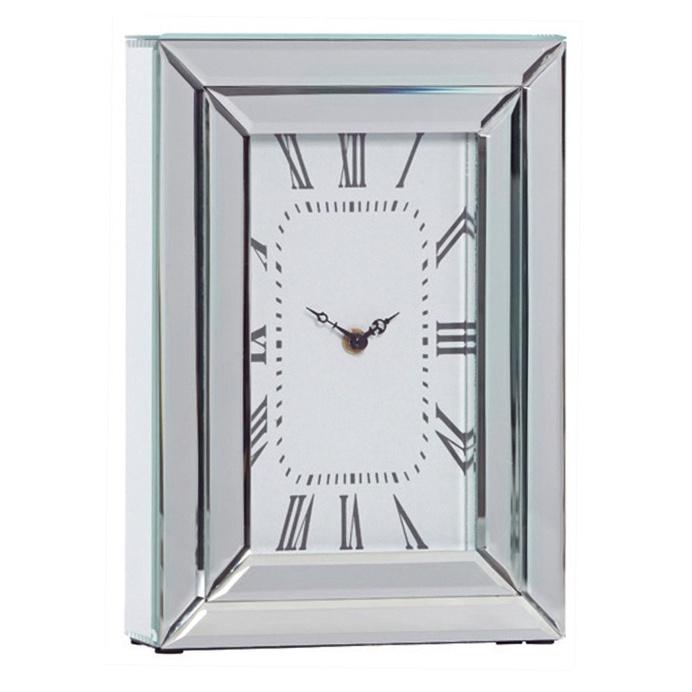 Chriss Mirror Rectangle Table Clock, 33 cm