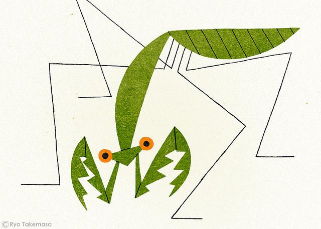 RYO TAKEMASA ILLUSTRATION GALLERY #illustration #design #graphic #mantis