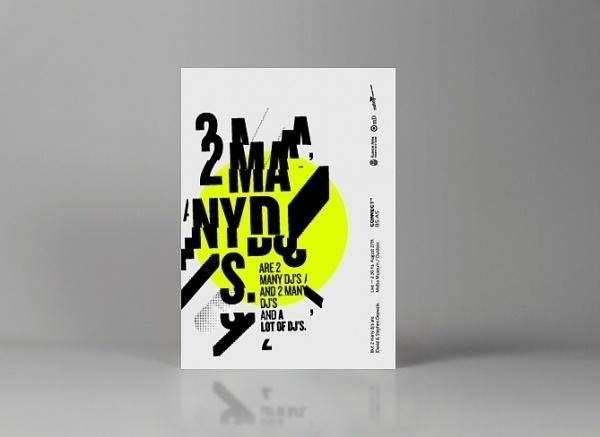 2 Many Djs — Live shows compilation | Calendar — Branding & Graphic Design Bureau #tipografia #yellow #calendar #circulo #typography