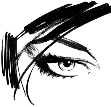 Woman_eye.0.jpg 375×360 pixels #illustration