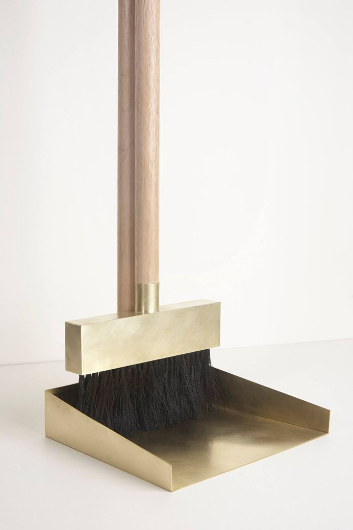 Brass Dustpan and Broom by Studiokyss