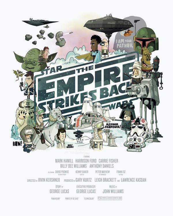 STAR WARS Trilogy movie poster tribute #illustration #movie #poster