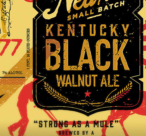 Kentucky Black Walnut Ale Label #beer