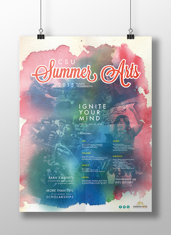 CSU Summer Arts poster on Behance #arts #design #graphic #poster