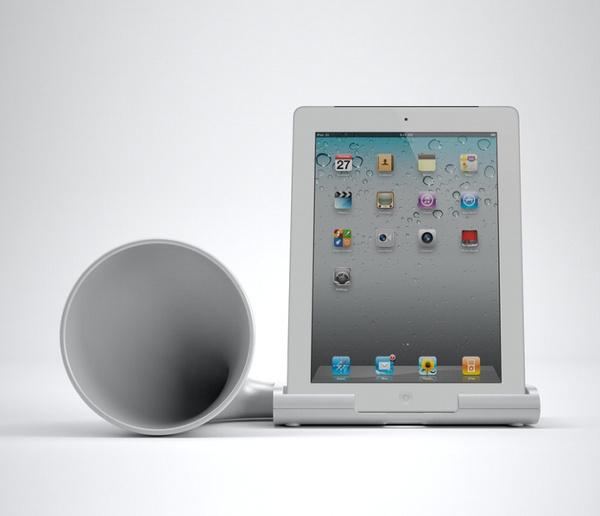 Megafon iPad Speaker #tech #amazing #modern #innovation #design #futuristic #gadget #ideas #craft #illustration #industrial #concept #art #cool