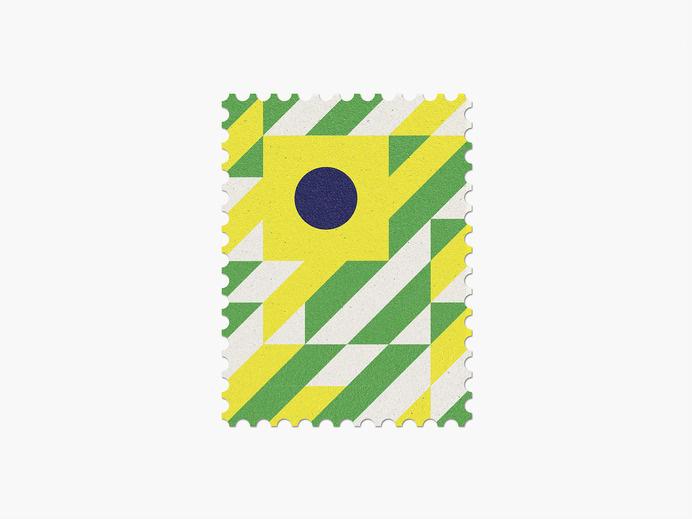 Brazil #worldcup #brazil #stamp #geometric #maan #illustration #minimal #graphic #2014