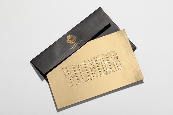 Honor #invite #goldfoil #hightide #honor #deboss #gold #hightidecreative #fashion