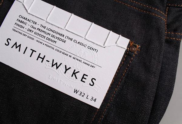 Smith Wykes designed by Studio Small #emboss #heritage #branding #serif #sans #label #tag #logo #stitch