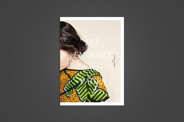 Catalogue SS2013 - Les Enfants Sauvages #photographie #enfants #design #catalogue #summer #fashion #spring #magazine #typography