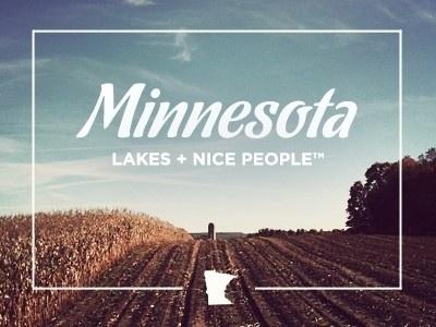 Dribbble - Minnesota by Bryan Knauber #minnesota #design #graphic #typography