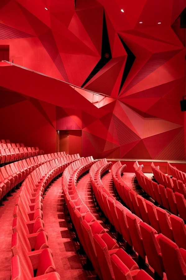 Imagi:nation #abstract #red #modern #theatre #contemporary #geometric #3d