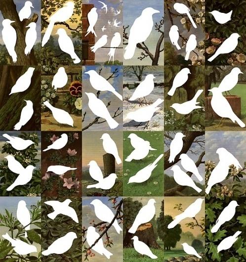 elphicks — Sharon ElphickGarden Ghosts (Large) #birds #graphic #white #poster