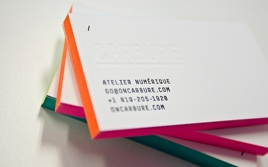 FPO: Carbure Business Cards #business #self #letterpress #promotion #cards #carbure