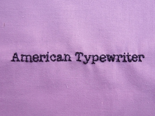 It's Nice That : Emma Ruth: And Sew For Today #made #hand #typography