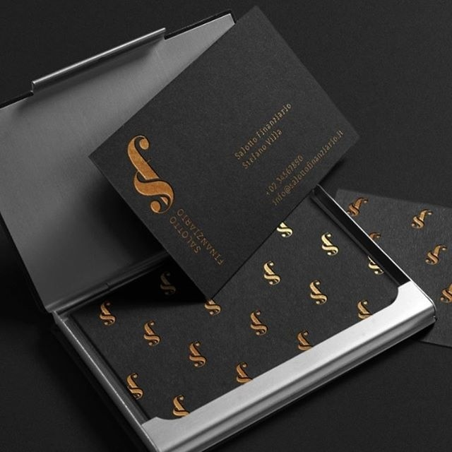 One of our logo proposal for Salotto Finanziario #finance #glamour #black #gold #sf #typography #monogram #texture #pattern #smart #business