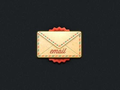 Dribbble - Email by Bryan D #email #envelope #texture