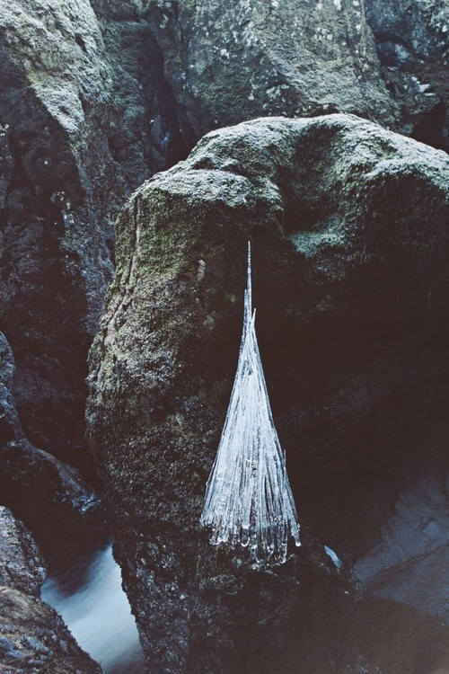 Andy Goldsworthy #land #rocks #nature #goldsworthy #ice