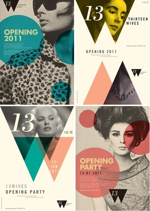 Design Work Life » Foreign Policy Design Group: 13 Wives #shapes #layout #retro #typography