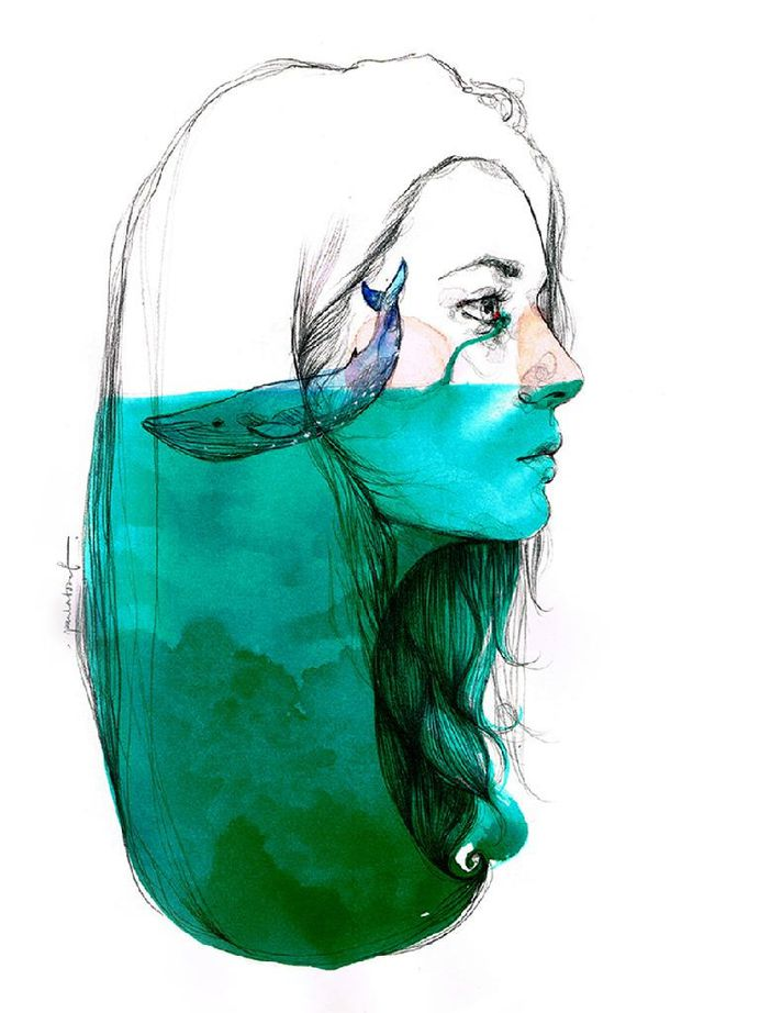 """Cry seas and stay inside"" by Paula Bonet"