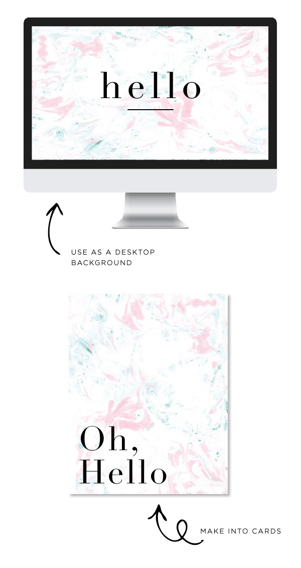 MARBLEpink #computer #desktop #screensaver #you #card #thank #marble #blue