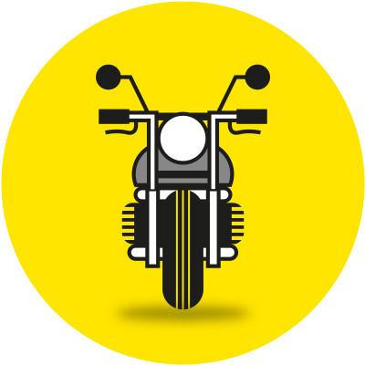 Auch für Motorradfahrer lohnt sich der TCS #icon #icons #icondesign #picto #motorbike #vehicle #bike #bicycle #transportation #illustration