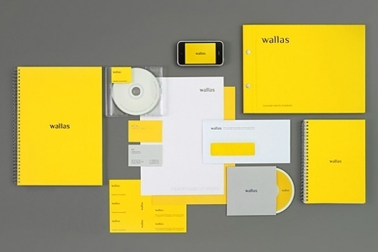 Wallas : Lovely Stationery . Curating the very best of stationery design #yellow #identity