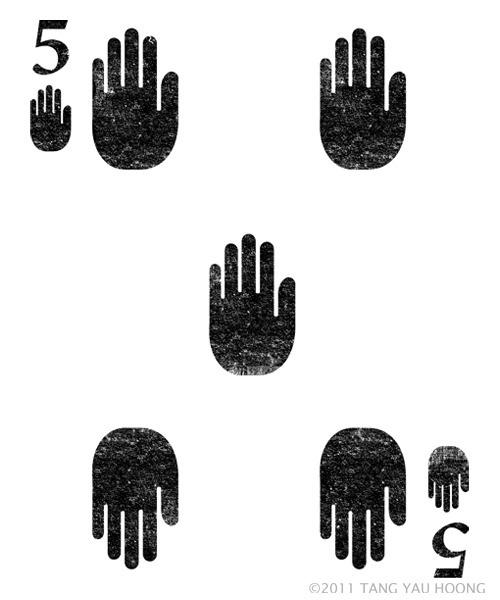 High Five #card #illustration #playing #tangyauhoong