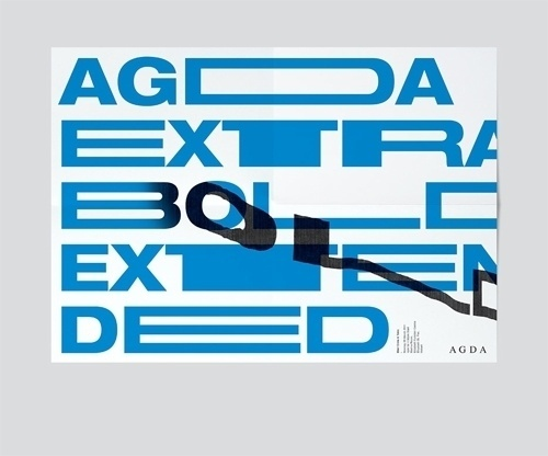 Design Envy · Agda Extra Bold Extended: Toko #extra #bold #invitation #typography