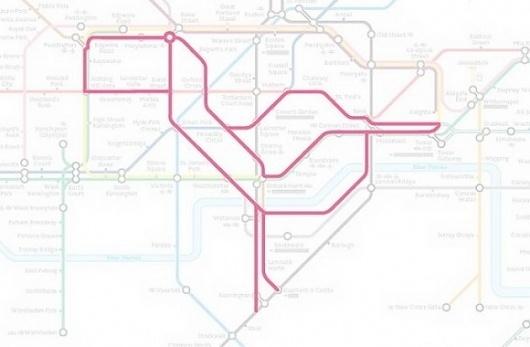 Subway Animals » Design You Trust – Design and Beyond! #subway #drawings #map #bird
