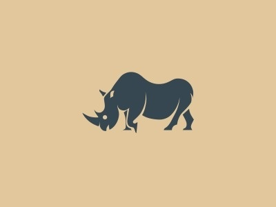 Rhino #illustration #animal #icon #rhino